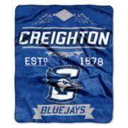 Creighton Bluejays Label Raschel Throw by Northwest