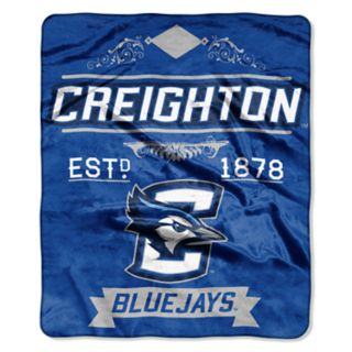 Creighton Bluejays Label Raschel Throw by Northwest