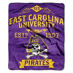 East Carolina Pirates Label Raschel Throw by Northwest