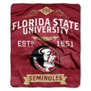 Florida State Seminoles Label Raschel Throw by Northwest
