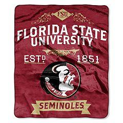 Florida State Seminoles Label Raschel Throw by Northwest