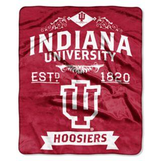 Indiana Hoosiers Label Raschel Throw by Northwest