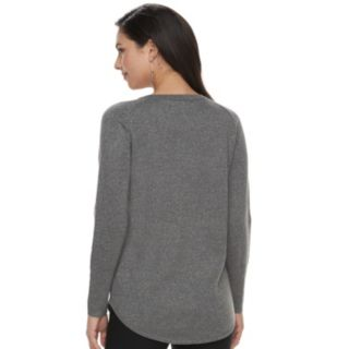 Petite Apt. 9® Metallic Crewneck Sweater