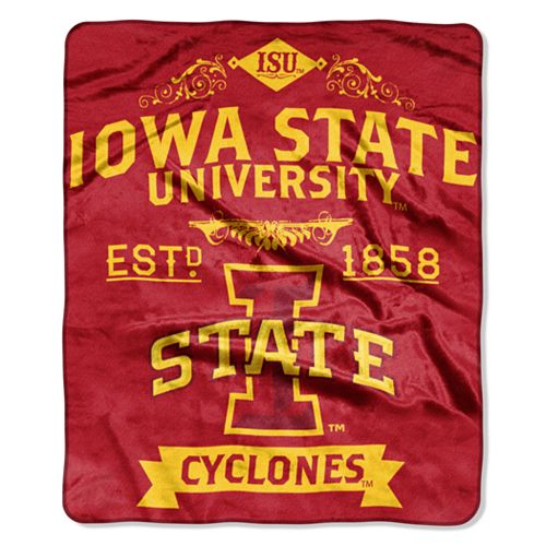 Iowa State Cyclones Label Raschel Throw by Northwest