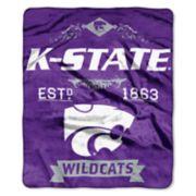Kansas State Wildcats Label Raschel Throw by Northwest
