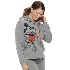 Disney's Mickey Mouse 90th Anniversary Juniors' Plus Size Fleece Hoodie