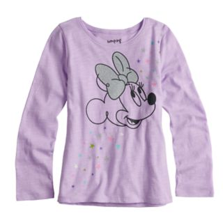 Disney's Minnie Mouse Girls 4-10 Glittery Graphic Long-Sleeve Tee by Jumping Beans®