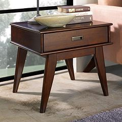 Simpli Home Draper Mid-Century End Table