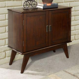 Simpli Home Draper Mid-Century Storage Cabinet
