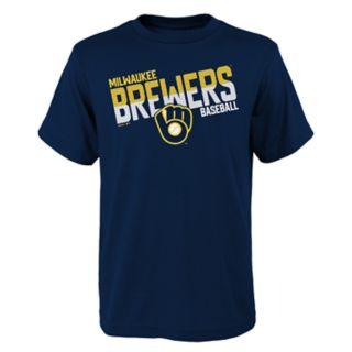 Boys 4-18 Milwaukee Brewers Meshed Up Tee