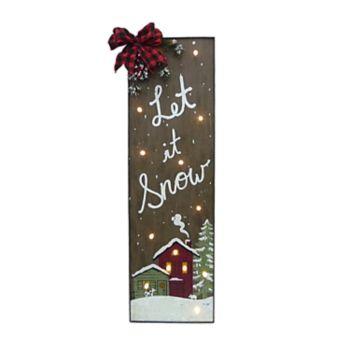 "St. Nicholas Square® Light-Up ""Let It Snow"" Christmas Wall Decor"