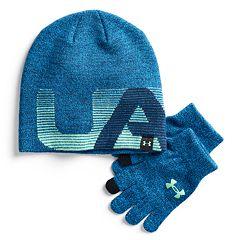 Boys 4-20 Under Armour Beanie & Gloves Set