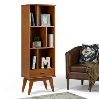 Simpli Home Draper Mid Century Storage Bookshelf