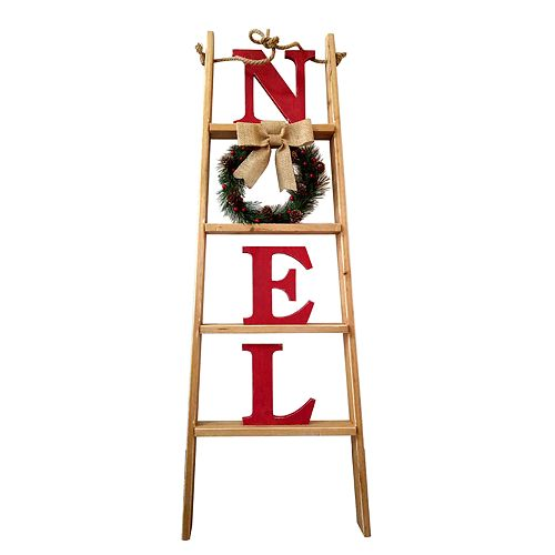 "St. Nicholas Square® ""Noel"" Leaning Ladder Christmas Decor"