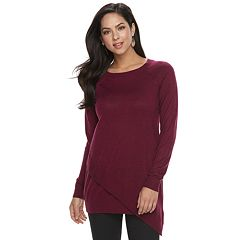 Petite Apt. 9® Asymmetrical Tunic Sweater