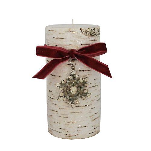 "St. Nicholas Square® Winter Frost 3"" x 6"" Pillar Candle"