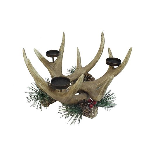 St. Nicholas Square® Faux Antler 3-Light Tealight Candle Holder