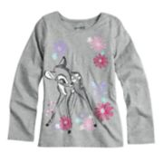 Disney's Bambi Girls 4-10 Glittery Graphic Tee by Jumping Beans®