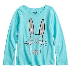 Girls 4-10 Jumping Beans® Slubbed Glitter Graphic Tee