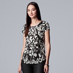 Women's Simply Vera Vera Wang Print Flocked Tee