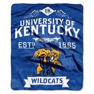 Kentucky Wildcats Label Raschel Throw by Northwest