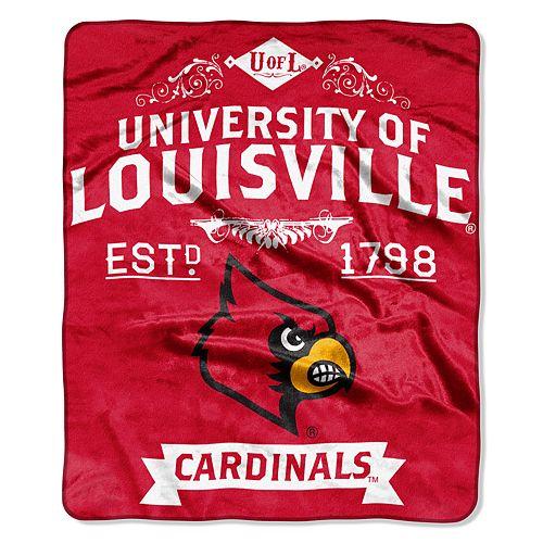 Louisville Cardinals Label Raschel Throw by Northwest