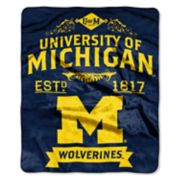 Michigan Wolverines Label Raschel Throw by Northwest