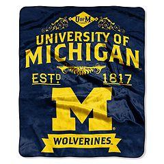 Michigan Wolverines Label Raschel Throw by Northwest