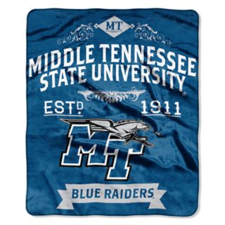 Middle Tennessee Blue Raiders Label Raschel Throw by Northwest