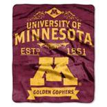 Minnesota Golden Gophers Label Raschel Throw by Northwest