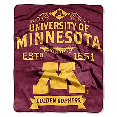 Minnesota Golden Gophers Label Raschel Throw by Northwest