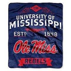 Ole Miss Rebels Label Raschel Throw by Northwest
