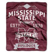 Mississippi State Bulldogs Label Raschel Throw by Northwest
