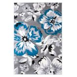 World Rug Gallery Newport Modern Floral Area Rug