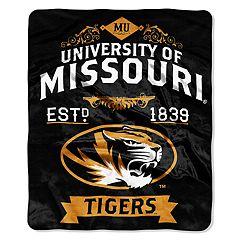 Missouri Tigers Label Raschel Throw by Northwest