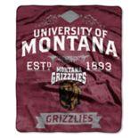 Montana Grizzlies Label Raschel Throw by Northwest
