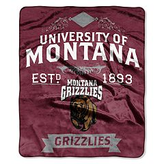 Montana Grizzlies Label Raschel Throw by Northwest