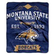 Montana State Bobcats Label Raschel Throw by Northwest
