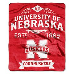 Nebraska Cornhuskers Label Raschel Throw by Northwest
