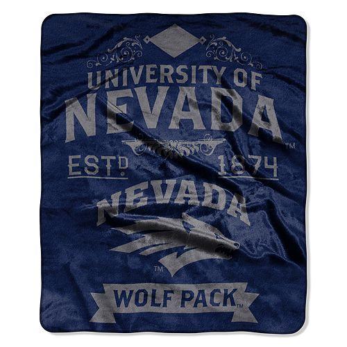Nevada Wolf Pack Label Raschel Throw by Northwest