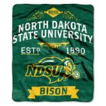 North Dakota State Bison Label Raschel Throw by Northwest