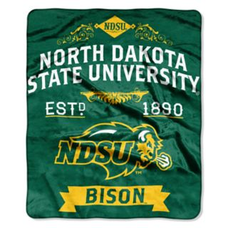 North Dakota State Bison Label Raschel Throw by Northwest