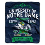 Notre Dame Fighting Irish Label Raschel Throw by Northwest