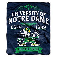 Notre Dame Fighting Irish Label Raschel Throw by Northwest
