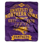 Northern Iowa Panthers Label Raschel Throw by Northwest
