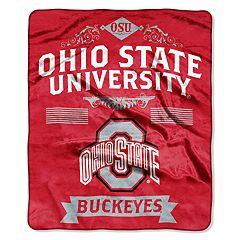 Ohio State Buckeyes Label Raschel Throw by Northwest