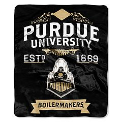 Purdue Boilermakers Label Raschel Throw by Northwest