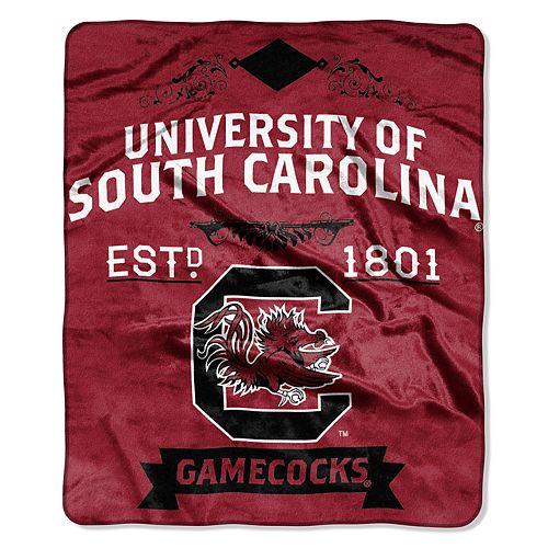 South Carolina Gamecocks Label Raschel Throw by Northwest