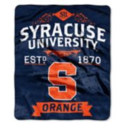 Syracuse Orange Label Raschel Throw by Northwest
