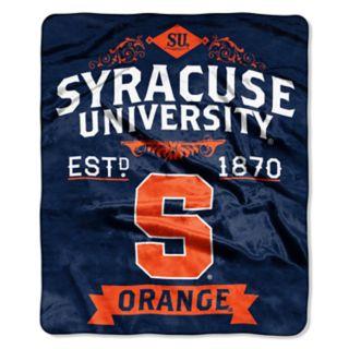 Syracuse Orange Label Raschel Throw by Northwest